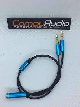 Splitter divisor de audio para compuatadores, celulares o play station