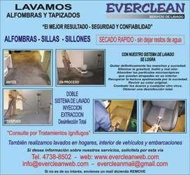 Limpieza de alfombras y tapizados a domicilio.