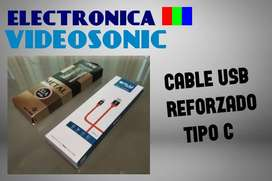 Cable USB TIPO C Reforzado !!! Tenemos Stock!!