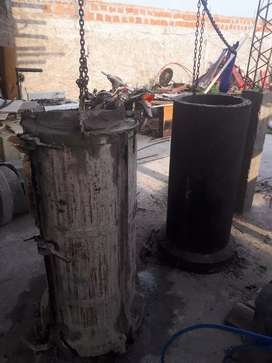 Vendo tubo de cemento y hormigón xon hierro super reforzados medidas 40×1.20 metros