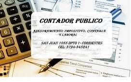 Contador Publico, Asesoramiento Impositivo, Contable y Laboral