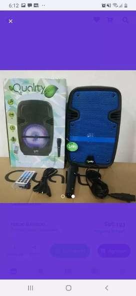 Parlante cabina de sonido profesional Bt+microfono 6.5