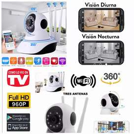 Cámara de seguridad wiffi full HD robótica 360