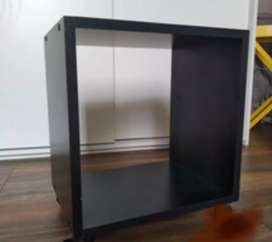 Cubo mesa  color negro alto brillo