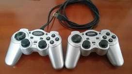 control doble de video juego para pc USB Universal serial bus