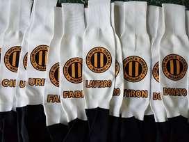 Medias de Futbol Totalmente Personalizadas con el Escudo del club y Nombre del Jugador