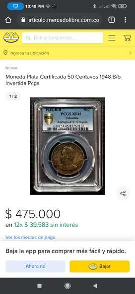 Moneda de ¢50 de 1948