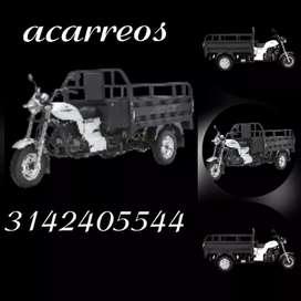 Ofrecemos servicio de acarreos en moto carguero para Villavicencio y sus alrededores