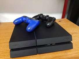 PS4 fat 500gb 2 controles 3 juegos