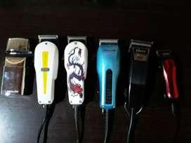 Combo 6 máquinas de peluquería casi sin uso