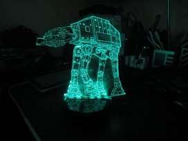LAMPARA LED 3D STAR WARS USB