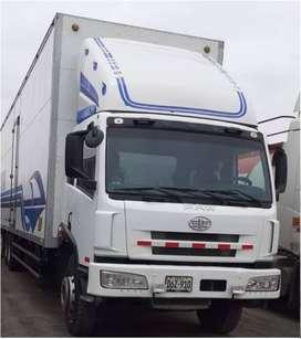 FAW - J5 280hp 6x2 con furgón de 82 m3