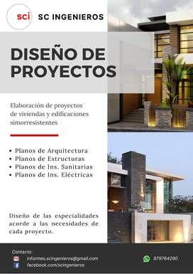 Diseño de proyectos y planos para viviendas y edificaciones