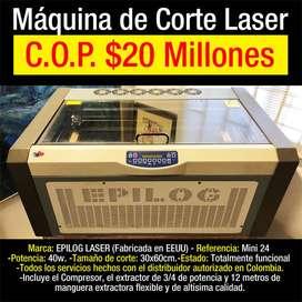 VENDO MÁQUINA DE CORTE LASER ¡GRAN OPORTUNIDAD!