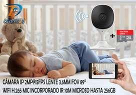 CÁMARA IP WIFI 2MP+MICROSD 32GB
