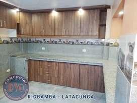 Muebles en Melaminico de Cocina, bajos, aereos, alacena, closet, granito importado