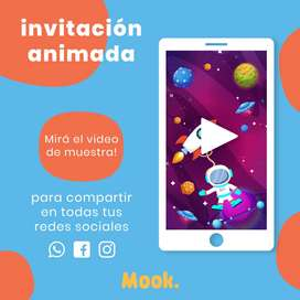 Astronauta Invitación Animada en Video