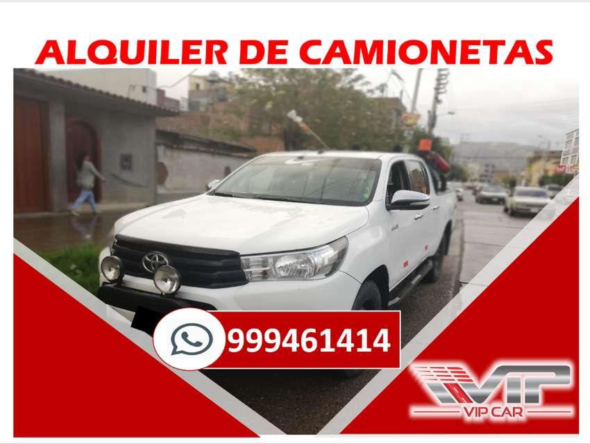 ALQUILER DE CAMIONETAS 4X4 TOYOTA HILUX, EN HUANCAYO -JAUJA, JUNÍN, CAMIONETA TOYOTA RAV4,VAN H1, AUTOS 0