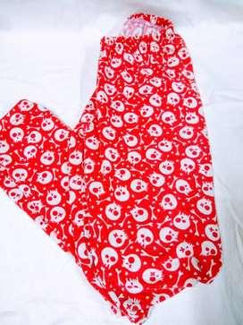 Calza Kid 12 años largo 70cm estampado en roja