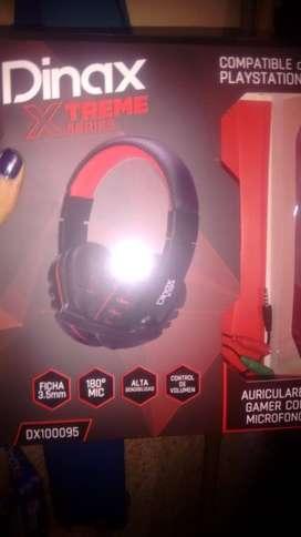 auricular gamer y compatible con play 4