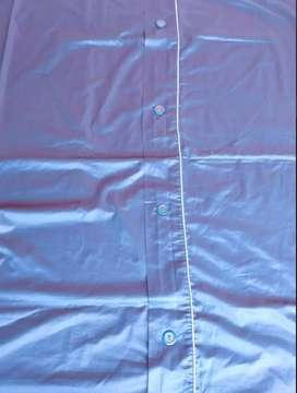 Juego de cama doble azul sat 1.91 mt x 1.10 satinado detalle plateado mariposa en Duvet Funda para cojín azul brillante.