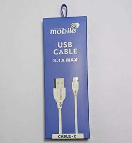 CABLE MOBILE TIPO C 3.1AMP 1.2M