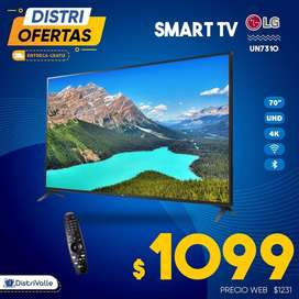 "Televisor Smart TV LG 70"" UHD 4K con Magic Control UN7310"