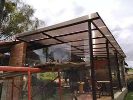 Pergolas y domos  en vidrio