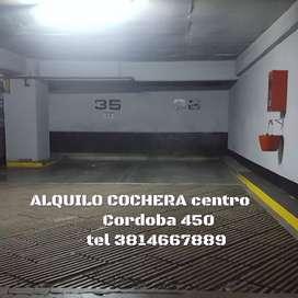 Alquilo cochera Córdoba 450