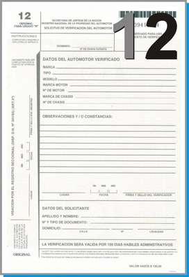 Formulario Automotor 12 Auto Verificacion