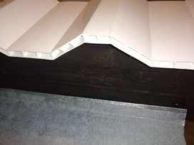Teja PVC Alveolar Trapezoidal, liviana 4,6 Kg/M2, luz libre apoyos 1,60 metros, Garantía de fabrica 10 años, Termoacusti