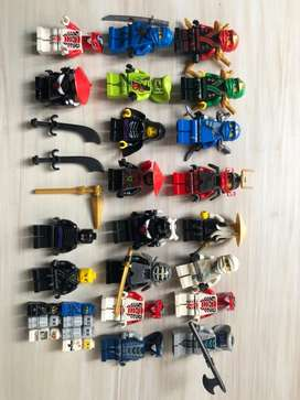 Lote figuras LEGO ninjago y accesorios