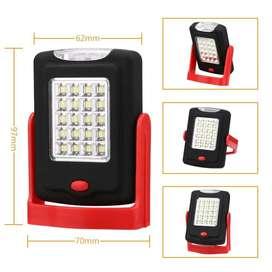 Lampara Led Bateria intercambiable magnético luz de trabajo plegable con gancho y apoyo soporte