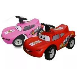 Carro Montable Andadera Cars Rayo Mcqueen Niños Y Niñas