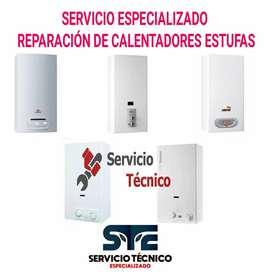 Técnicos en Reparación de Calentadores y estufas a Gas