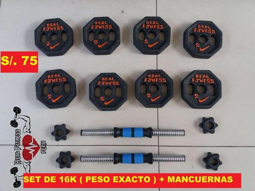 SET DE PESAS   PESO EXACTO : 16kg  - 20 kg - 24kg - 30kg - 32 kg - 40 kg 0