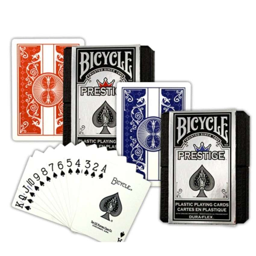 Cartas Bicycle Prestige Rojo Azul Plastic Dura Flex Baraja 0