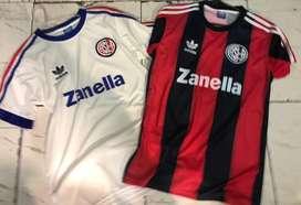Camisetas retro san lorenzo titular suplente
