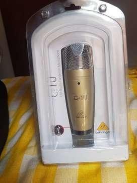 Microfono de Estudio Behringer C1-U USB Condensador + Base Xtreme adaptable 1.80cm