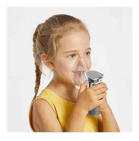 Nebulizador Portatil 2 Mascarillas Niños Adultos Usb Y Pilas