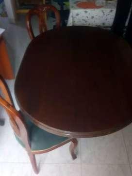 Comedor mesa y sillas 4 y 6 puestos usado
