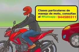 clase de manejo de motos moto lineal