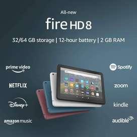 """Tablet FIRE HD 8"""". Linea 2020. Con caja y cargador"""