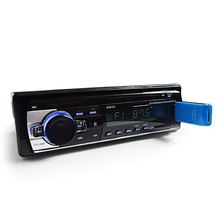 Stereo Con Bluetooth Con Control Remoto Entrada Tarjeta SD USB Radio FM LCD 12V 60W 4 Canales Nuevo 0