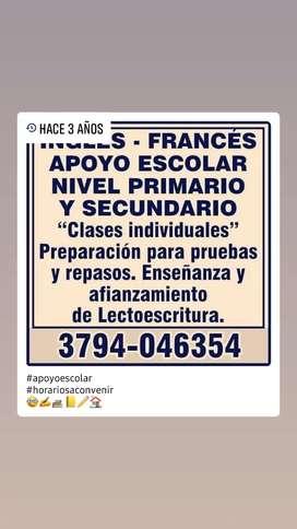 ENSEÑANZA PARTICULAR INGLES - FRANCES