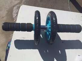 Rueda de abdominales.ab wheel doble reforzada.