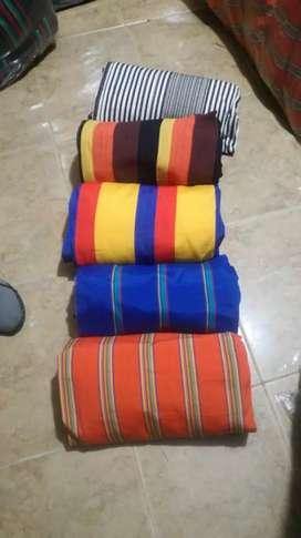 Hamacas sábanas almohadas
