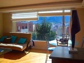 Suit amoblada en renta , sector Bellavista, hermosa vista, seguridad 24horas, acogedora, excelente ubicacion residencial