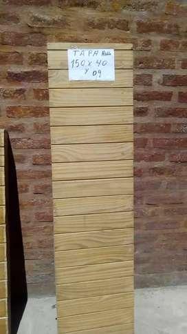 Tapa rollo de madera de 1,50 × 40