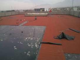 Manto asfaltico , Bitumen Imprimante liso -  instalado , manto gravillado
